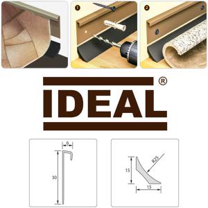 Напольный пластиковый плинтус для линолеума Идеал (IDEAL)