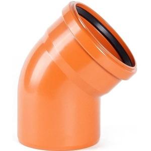 Отвод наружный канализационный 30°, 110 мм