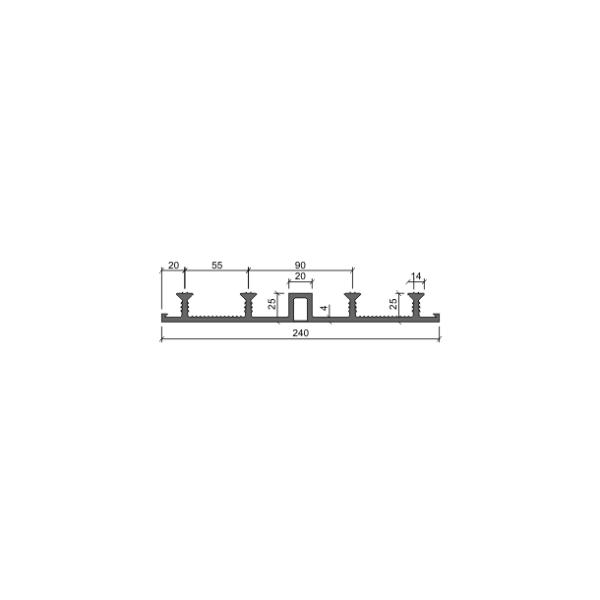 Гидрошпонка ДО-240/20-4/25 (ПВХ-П)