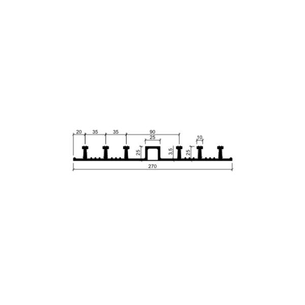Гидрошпонка ДО-270/25-6/25 (резина)