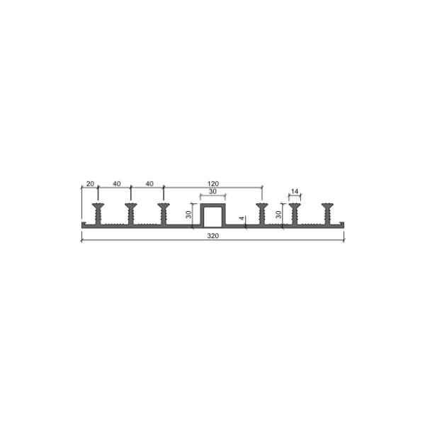 Гидрошпонка ДО 320/30-6/30 (ПВХ-П)