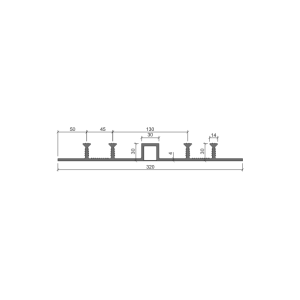 Гидрошпонка ДОМ-320/30-4/30 (ПВХ)