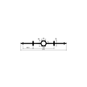 Гидрошпонка ДВ 270/25 (резина)