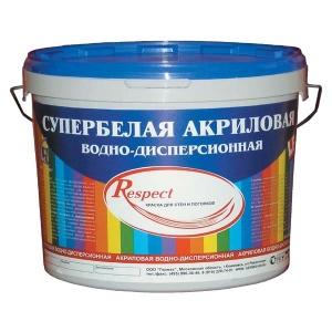 """Краска Акриловая супербелая 40кг """"Respect"""""""