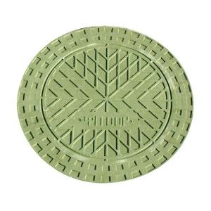 Крышка для колодца Ø400 мм (верхняя, зеленая) УЛ