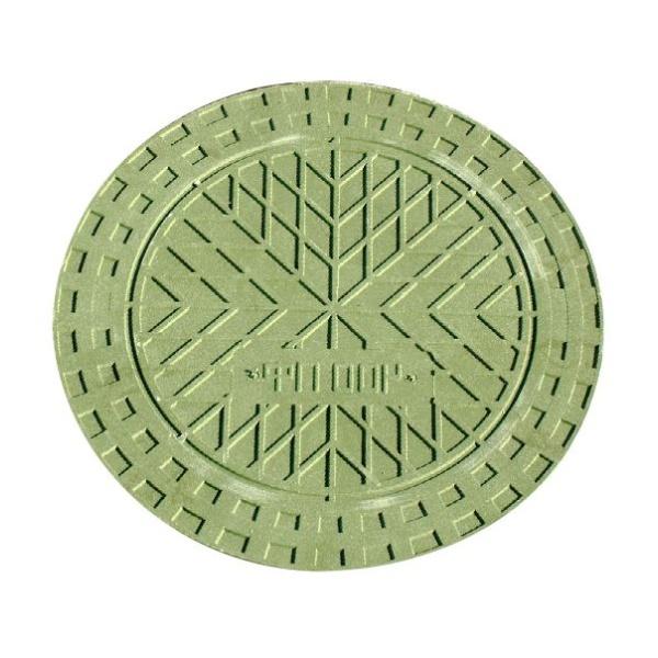 Крышка для колодца Ø315 мм (верхняя, зеленая) УЛ