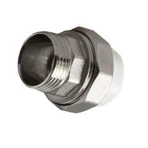 Муфта PPR комбинированная разъемная c наружной резьбой Ø20 - 3/4 мм