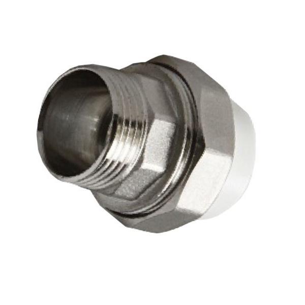 Муфта PPR комбинированная разъемная c наружной резьбой Ø50 - 1 1/2 мм