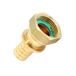 Переходник Ø16 х 1/2  мм с накидной гайкой RX REHAU (бронза)
