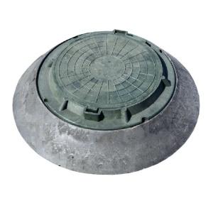 Полимерпесчаный конус - переходник + зеленый люк