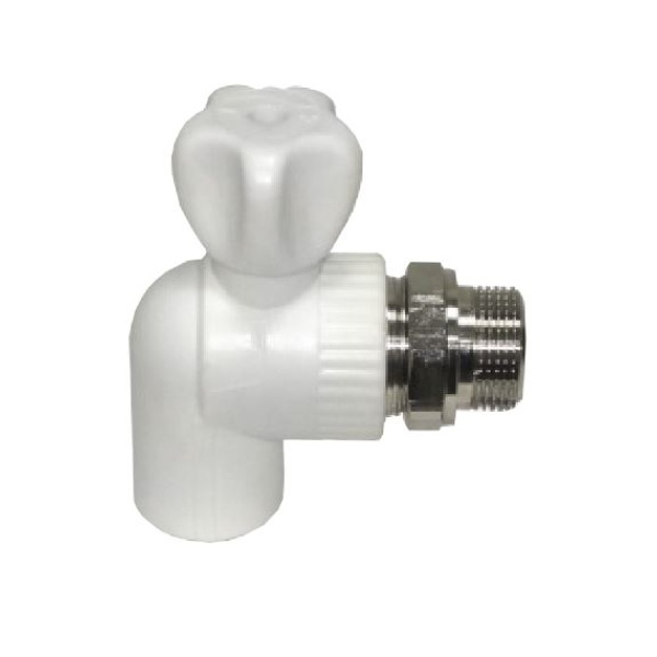 Шаровой кран для радиатора угловой Ø20 1/2 мм