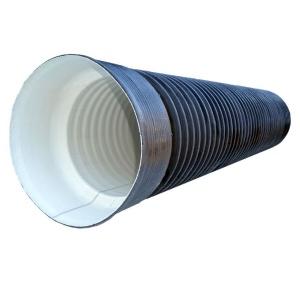 Труба гофрированная с раструбом Ø200 / 230 мм SN6-7 черная