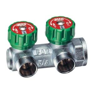 Коллектор FAR (ФАР) 3/4 х 1/2 плоский с 2 отводами