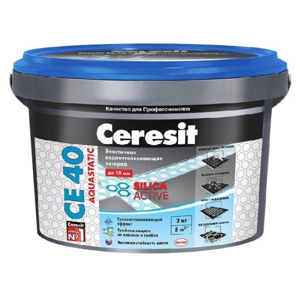 Затирка Церезит (Ceresit) СЕ 40 Aquastatic Белый 01 2 кг