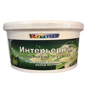 Краска ИНТЕРЬЕРНАЯ для стен и потолков (Белая) ВД-АК-2.05 база «С»  под колеровку 14 кг