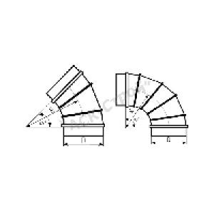 Вентиляционный отвод 45°