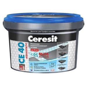 Затирка Церезит (Ceresit) СЕ 40 Aquastatic Графит 16 2 кг