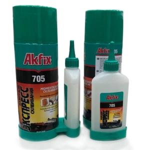 Клей двухкомпонентный Akfix 705 100 гр + 400 мл