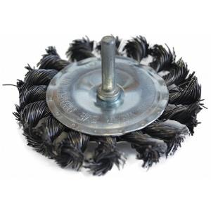 Щетка-крацовка Плоская со шпилькой 75 мм, стальная Pobedit