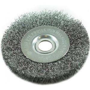 Щетка для точильно-шлифовального станка Радиальная 100 мм, стальная витая проволока, Pobedit