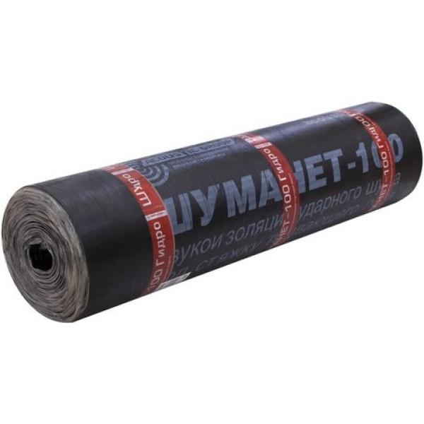 Шуманет 100 Гидро, гидро-звукоизоляционный, рулон 1000*100*5 мм