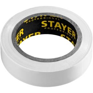 Изолента ПВХ 10м (0,13х15 мм), белая STAYER Protect-10, 12291-W