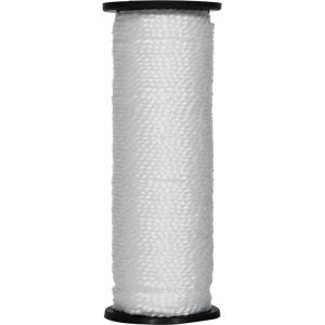 Нить капроновая на катушке 50 м. белая усиленная 0,44 ктекс; 45 кгс