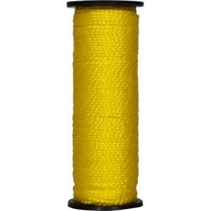 Нить капроновая на катушке 50 м. жёлтая усиленная 0,44 ктекс; 45 кгс