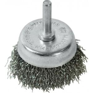 Чашка щётка-крацовка со шпилькой 75 мм, стальная витая проволока, Pobedit