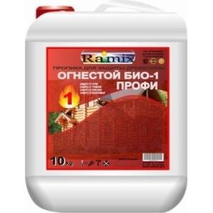 Огнебиозащитная пропитка для древесины ОГНЕСТОЙ БИО -1- ПРОФИ колерованная 10 л