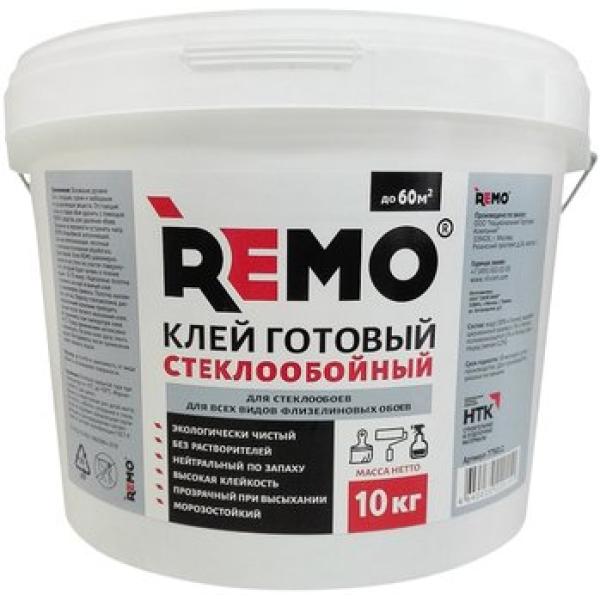 Клей готовый стеклообойный 10кг Remo
