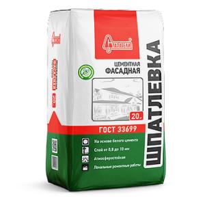 Шпаклевка цементная фасадная 20 кг ГОСТ-33699