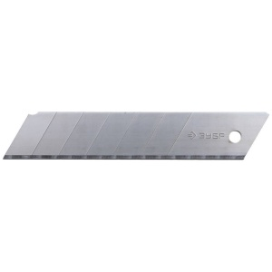 """Лезвия ЗУБР """"ЭКСПЕРТ"""" сегментированные, улучшенная инструментальная сталь У8А, в боксе, 25 мм, 5шт"""