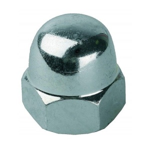 Гайка колпачковая М10 (оцинкованная) DIN 1587 (1шт)