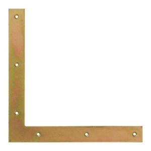 Уголок плоский 100х100х15х2 мм (жёлтый цинк) (1шт)