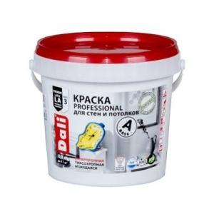 Краска DALI Professional для стен и потолков 0,9л А белая ВДАК