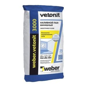 Наливной пол Вебер ветонит 3000 Weber Vetonit 20кг