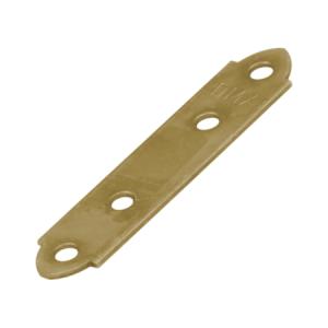 Пластина узкая крепежная 98х17х2 мм (желтый цинк) (1шт)