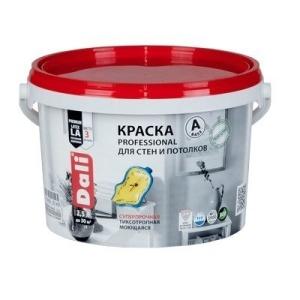 Краска DALI водно-дисперсионные Professional для стен и потолков 2,5л (С) бесцветная