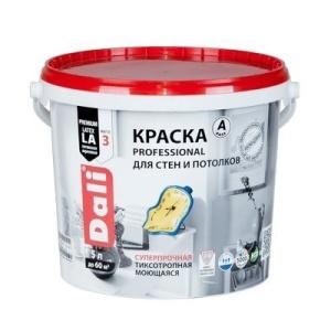 Краска DALI водно-дисперсионные Professional для стен и потолков 5л А белая