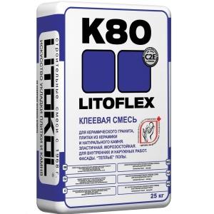 Клей плиточный  K-80 Литокол Литофлекс (Litokol Litoflex К80) фасадный 25 кг