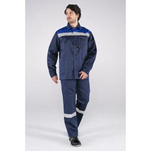 Костюм Стандарт СОП усиленный , брюки, т.синий/васильковый