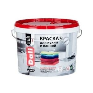 Краска DALI водно-дисперсионные для кухни и ванной 9л А белый