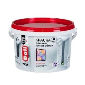 Краска DALI водно-дисперсионные для обоев 2,5л А белая