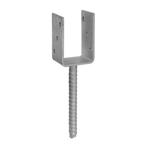 Анкерное основание столба тип U 81х324х120 (1шт)