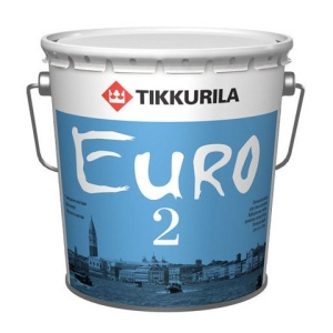 Краска интерьерная Тиккурила Евро 2 Tikurilla «Euro-2» 9 л