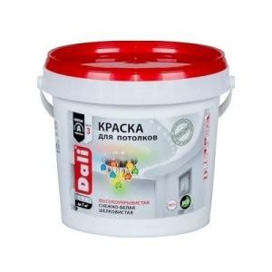 Краска DALI водно-дисперсионные для потолка 0,9л белая 96%