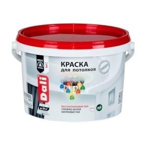 Краска DALI водно-дисперсионные для потолка 2,5л белая 96%
