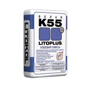 Клей плиточный K-55 Литокол Литоплюс  (Litokol Litoplus К-55) 25 кг
