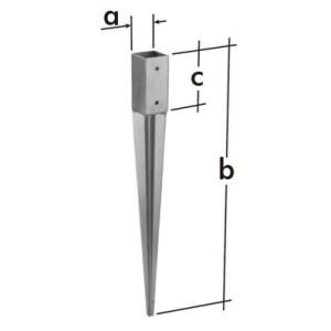 Забивное основание столба PSG 45мм (1шт)